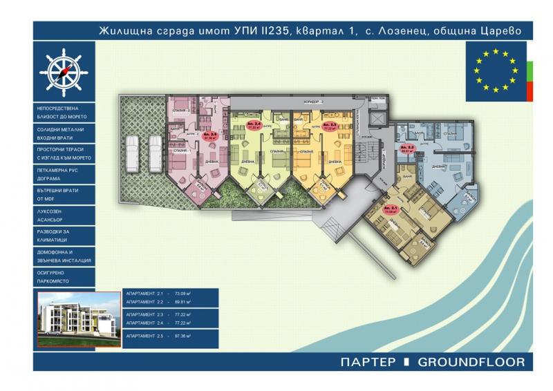 Квартиры в Болгарии у моря на первой линии.