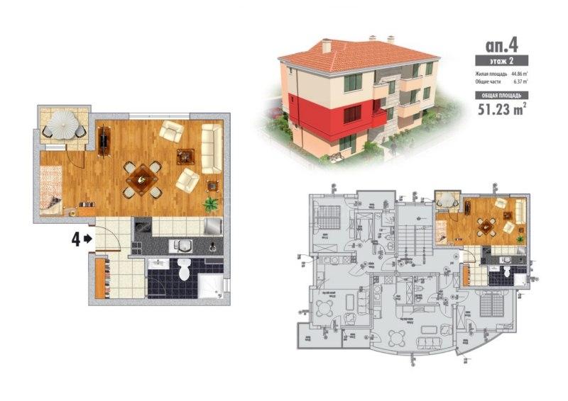 Дешевые квартиры в Болгарии с видом на море в Бяла